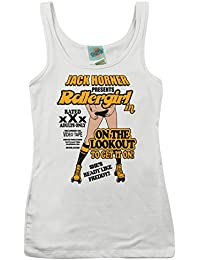 Bathroom Wall Boogie Nights Inspired Rollergirl, Women's Vest
