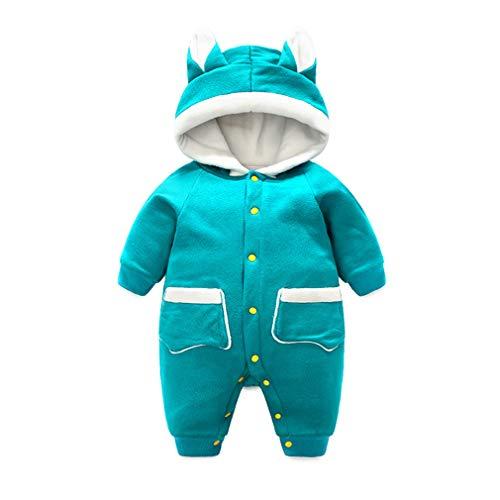 Hehong Baby mit Kapuze Strampler - Boy Girl Plus Samt Verdickung Winter Schneeanzug Cute Soft warme Kleidung Overall