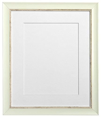 Frames By Post Weiß Nordic Bilderrahmen mit weißem Passepartout, Schwarz, Hellblau, Rosa, Elfenbein, grau, dunkelblau grau, und Hellgrau Halterung, plastik, White Mount, 30