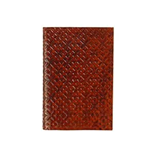 Journal/Carnet New Romb CA. A6 – Rechargeable – Cuir marron – Commerce équitable