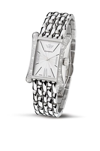 Philip Ladies Fellini Analogue Watch R8253185543 with Quartz Movement, White Dial and Stainless Steel Case
