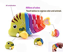 Mini Colorful Fish Toy , Key Operated Toy for Kids (Pack of 1 Fish Toy)