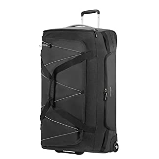 American Tourister Road Quest Wheeled Duffle Large Bolsa de Viaje, 79 cm, 114 Liters, Gris (Black/Grey)