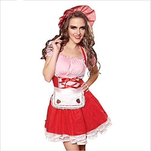 Kostüm Gothic Maid Adult - FMN-SEXY, Französisch Magd Erwachsene Sexy Kostüm Kellnerin Kleidung Halloween Süße Liebe Gothic Sexy Dessous Cosplay Karneval Party Kostüm (Color : Dresses, Size : M-Maid)