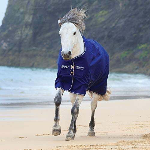 Horseware Amigo Hero ACY Lite 0g Regendecke Atlantic Blue (160) -