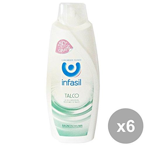 Set 6 Infasil bain Talc 500 + 250 ml. Les savons et cosmétiques