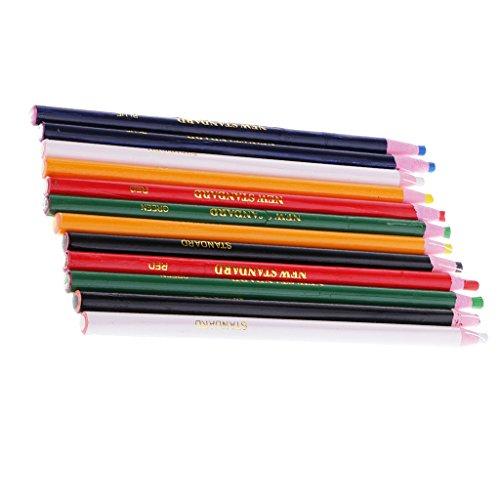 Sharplace 12pcs Crayón Lubricante Zapatos Metal Madera Cerámica Vidrio Papel Bricolaje Accesorio Drawing Marking Crayon