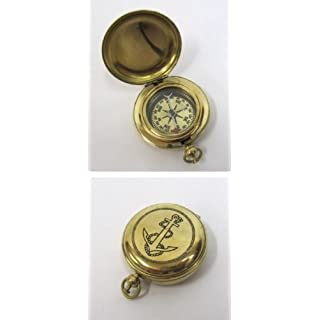 BR48424 - Solid Brass Dalvey Compass Anchor Design by HANDMADE BY ARTISAN