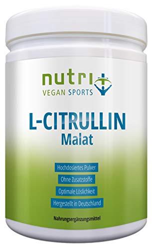 L-CITRULLIN MALAT PULVER Vegan 500g | höchste Dosierung und Reinheit | Fitness und Bodybuilding | Nutri-Plus | mit Piperin | Premiumqualität hergestellt in Deutschland