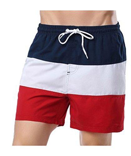 Herren Badehose, Kurze Hose Shorts, Herren Badeanzug Trunks mit Tasche Schwimmhose, Bademode mit Verstellbarem Kordelzug (Trunks Badeanzug)