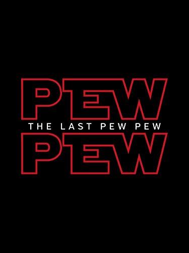 clothinx Herren T-Shirt Pew Pew The Last Pew Schwarz