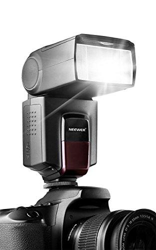 Neewer TT560 Flash Speedlite para Canon Nikon Sony Panasonic Olympus Fujifilm Pentax Sigma Minolta Leica y otros cámaras Digital DSLR y cámaras digitales con un solo contacto de Zapata