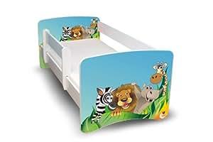 best for kids kinderbett 80x160 mit rausfallschutz zoo k che haushalt. Black Bedroom Furniture Sets. Home Design Ideas