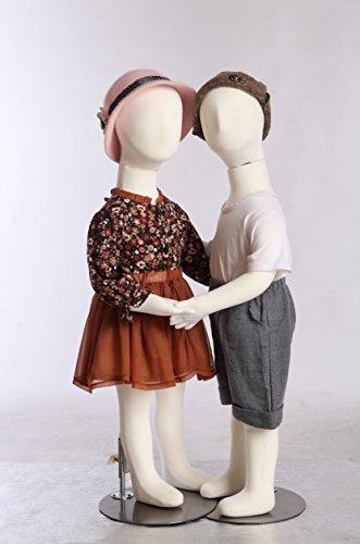 EurotonR3x2 2 X Kinderpuppen 95cm flexible biegbare Körper Schaufensterpuppe Mannequin