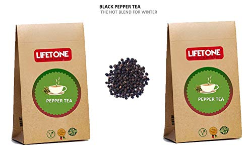 Té de pimienta negra | La mezcla caliente para enfriar el cuerpo | 40 bolsitas de té, 80 g