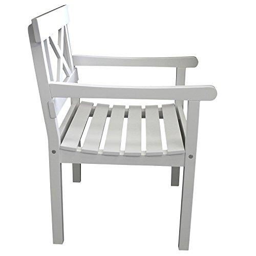 4-teilige Gartengarnitur Gartentisch 150x90cm + 3-Sitzer Gartenbank Sitzbank + 2x Gartensessel aus FSC zertifiziertem Eukalyptusholz Sitzgruppe Sitzgarnitur - 7