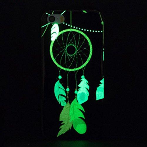 iPhone 5C Hülle, Vandot Schutzhülle für iPhone 5C Case Silikon Muster Malerei TPU Cover Leuchtend Luminous Noctilucent Abdeckung Handytasche Löwenzahn Schmetterling Blumen Pattern Gummi Dünnen Weich N Color 12