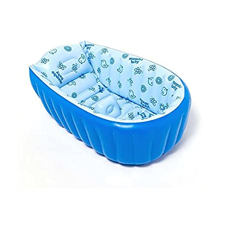 Baignoire gonflable pour bébé baignoire, portable, pliable, mini, piscine, d'épaisseur bébé pour douche lavabo avec coussin souple pour 0–3ans bébé