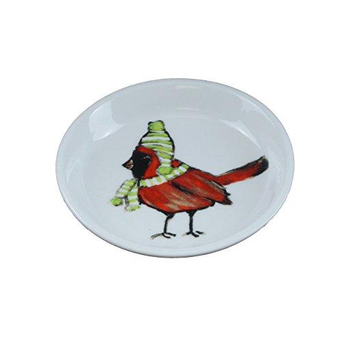Creative beeinflußt Winter Wonderland Vogel Steingut Küche-Set von 4 - Schal Tiere Woodland