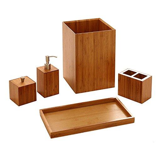 Badezimmer Eitelkeiten Schubladen (Bamboo Kosmetik Aufbewahrungsbox Schminktisch Hautpflege Produkte Desktop-Finishing Racks Eitelkeit Speicher Badezimmer Box - Zwei Sätze)