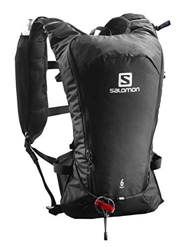 Salomon, Leichter Lauf-Rucksack 6L, AGILE 6 SET, Schwarz, L40164500