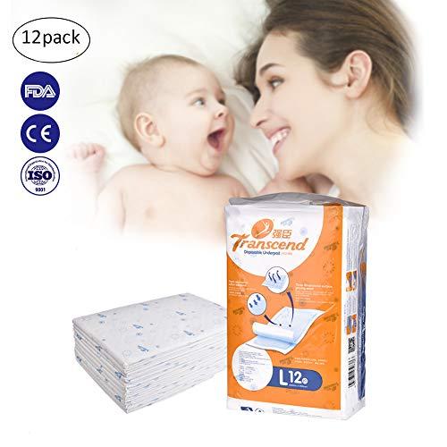 Pro Extra Große Einweg Baby Urin Matte Wasserdicht Atmungsaktiv tragbar Windel Pads Inkontinenz Bett Tabelle besteht Care Pad (Windeln Größe 1 Bulk)