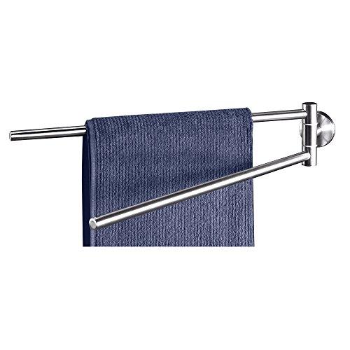 Dailyart Edelstahl Handtuchhalter ohne bohren Handtuchstange mit 2-Arm 180 Grad be...