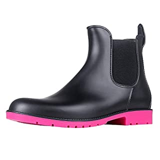 Asgard Women's Short Rain Boots Waterproof Ankle Chelsea Booties RS38