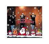 CHENYAJUAN Weihnachten Kamin Wohnzimmer Schlafzimmer Weihnachten Dekoration Wand Aufkleber Bett Shop Wand Dekoration Aufkleber