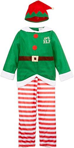 Widmann 00005 - Kinderkostüm Santa's Kleiner Helfer, Kasack, Hose, Hut, Größe ()