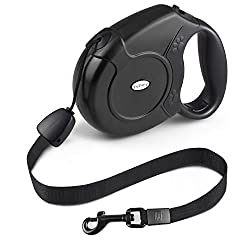 Fupany Retractable Dog Lead, 26ft8m Extendable Walking Dogpet Leads Strong Nylon Leash For Small Medium Large Dogs Up To 40kg88bls With One Button & Lock System (Black)