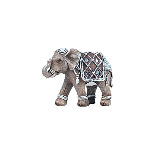 Art Deco Home - Figura Resina Elefante 11 cm - 0740