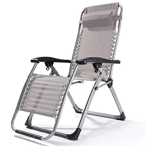 XXINZWU Tragbare Schwerelosigkeit Stuhl Garten Liegestuhl Klapp Licht Picknick Camping Stuhl Praktisch und langlebig Geeignet for 200 kg schwere Menschen (Color : Gray)