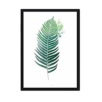 Pastoral Green Plant Leaves Home Decorative Painting Wall Art - cheap UK light store.