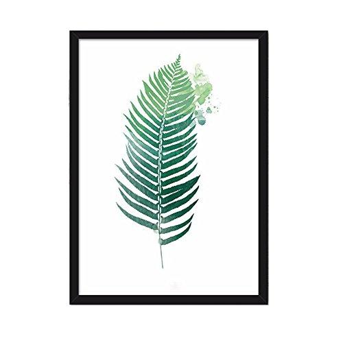 Cuadro conciso diseño rural hojas plantas verdes