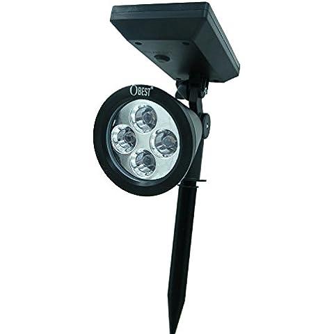 Reflector Solar obestoutdoor recargable de iluminación LED para jardín/piscina estanque/paisaje/cubierta/patio/Home/entrada/patio/jardín/escaleras