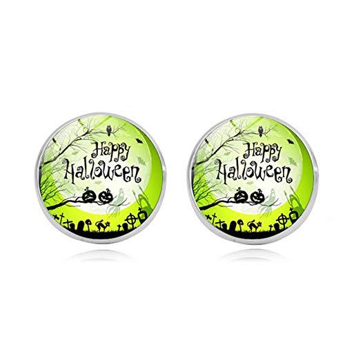 Blisfille Happy Halloween Edelstein Ohrstecker Mode Ohrringe Ohrhaken Ohrstecker Damen Herren Fest