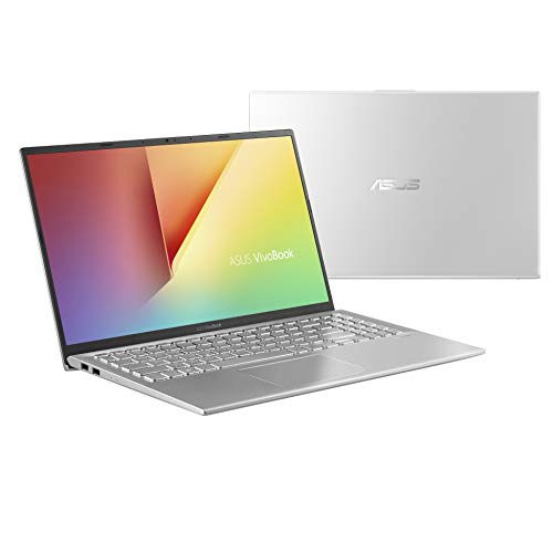 "Asus Vivobook S S512UA-EJ086T PC portable 15"" Argent (Intel Core i3, 8 Go de RAM, SSD 256 Go, Windows 10) Clavier AZERTY Français"