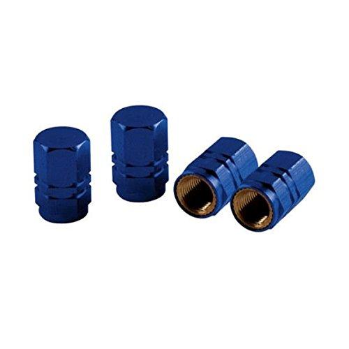 2504 - Bleu Sport Cap Hexagone Set de 4 bouchons de valve caps en aluminium universelle