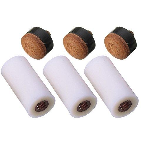 Produktbild broadroot Ersatz Billard Queue Stick Aderendhülsen Schraub Tipps 13mm für Snooker