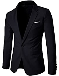Veste Casual Elegant Slim Fit Blazer Un Bouton Costume Jacket Homme