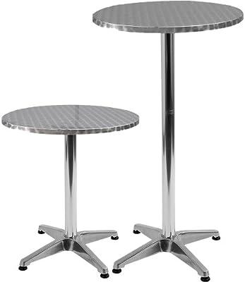Jago Sets Bistro de pie de aluminio altura regulable 70cm o 110cm Diámetro 60cm