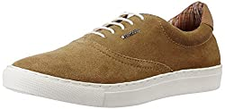 Provogue Mens Camel Leather Sneakers - 6 UK/India (40 EU) (7 US)