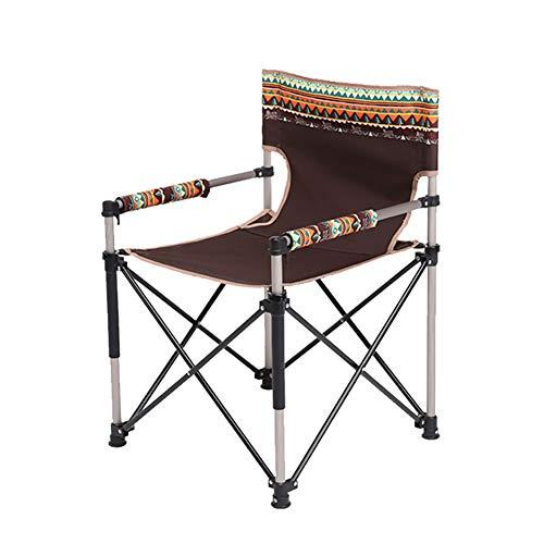 Camping Klappstuhl Hohe Rückenlehne Tragbar mit Tragetasche Einfache Einrichtung Gepolstert Atmungsaktiv und Bequem für den Außenbereich, Leichter Aluminiumrahmen, Unterstützung £ 260 -