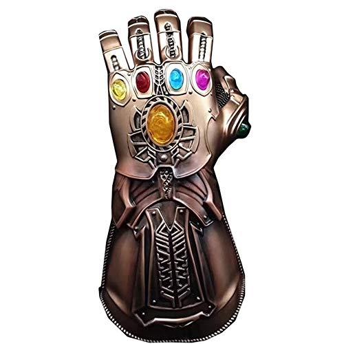 JU FU Infinity Gauntlet Figur - Marvel Legends Serie Infinity Gauntlet , LED-Superhelden von Avengers Infinity Gold Gauntlet Glove Leuchtsteine