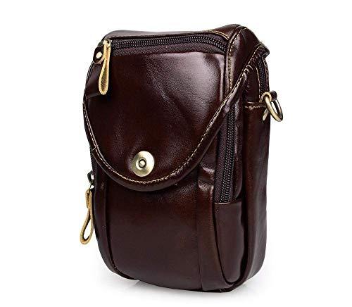Kalbsleder-leder-satchel (MEIDI Home Casual Herren Leder Satchel Bag Pack Kopf Haut Kalbsleder Kleine Tasche Tasche Kameratasche)
