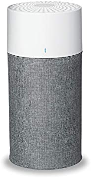 Blueair Air purifier With Particle & Carbon Filter, With AQM & Washable Pre-Filters, Which Captures Al