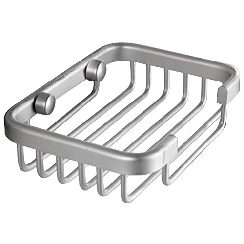 Aluminum Soap Dish Bathroom Shower Toilet Soap Holder Saver Basket Wall Mounted by Generic