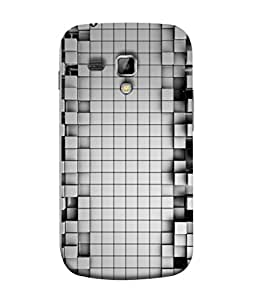 Digiarts Designer Back Case Cover for Samsung Galaxy S Duos 2 S7582, Samsung Galaxy Trend Plus S7580 (Zig Zag Cirlce Rectangle Square)