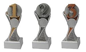 RaRu 3 Sport-Pokale mit Wunschgravur (für über 50 Sportarten verfügbar) + 3...